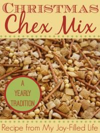 Christmas Chex Mix Recipe - it's addicting!