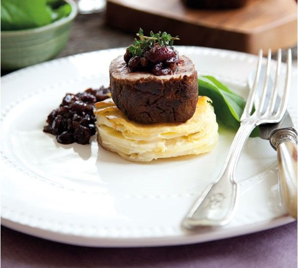 Annabel Langbein Fillet Steaks with Pinot Noir and Cherry Sauce Recipe
