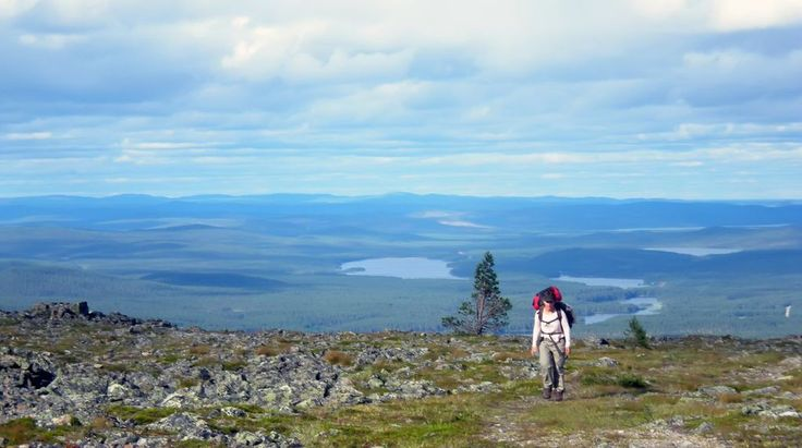 Hiking in Lemmenjoki, Finland