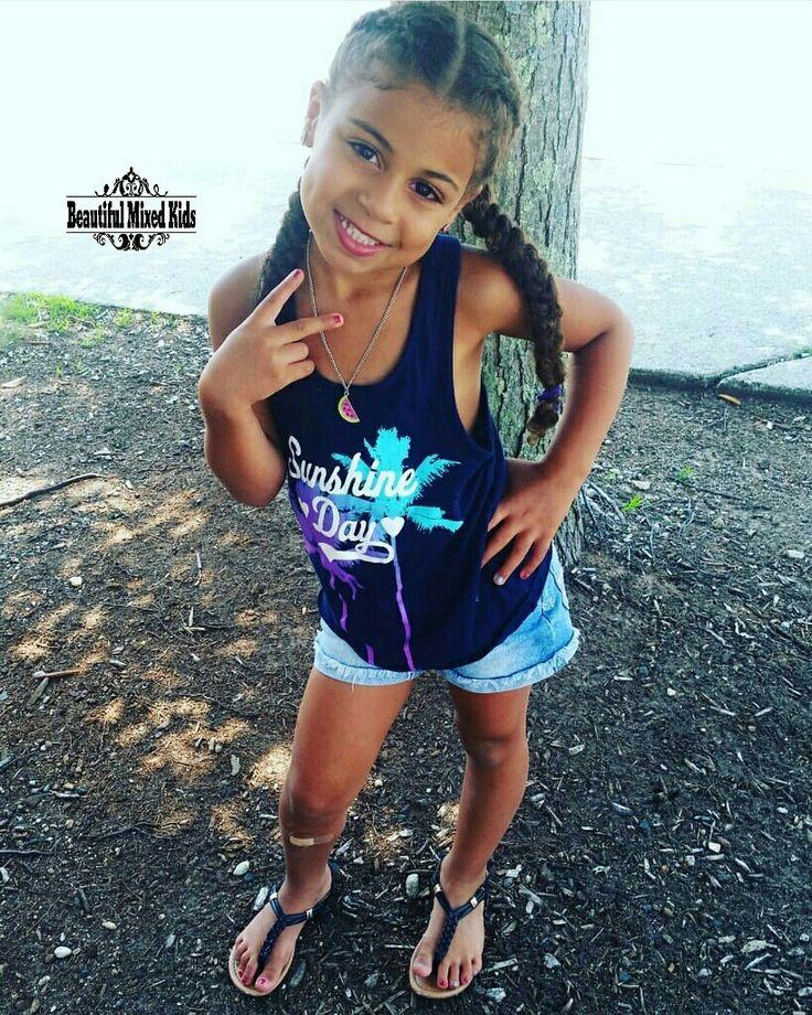 Adrianna Gayle - 5 Years • Italian & African American ❤ FOLLOW @beautifulmixedkids on instagram