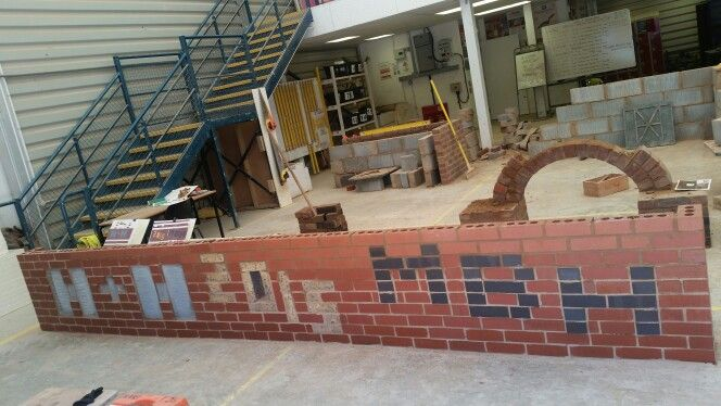 Block and brick sponsors logo's for Brooklands college brickwork department. Built by a couple of Level 1 students