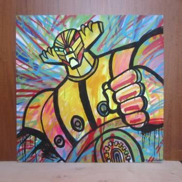 """Saatchi Art Artist Marco de Barba; Painting, """"Jeeg-robot"""" #art"""