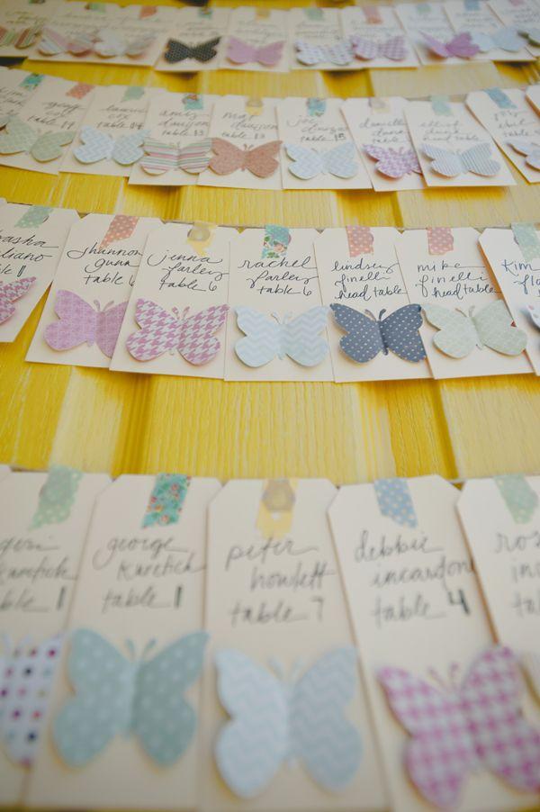 escort cards with cutout butterflies 45 best