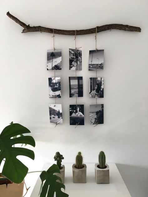 Bloggerin Michaela von Hello Mime zeigt auf dem Pixum Blog diese schöne und einfache Dekoidee! Sucht einen Ast und bestellt Fotoabzüge hier: http://pxm.li/6zRC2DN