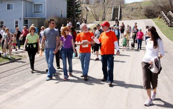 "Jane's Walk 2013: Edmonton, Alberta, Canada - ""Riverdale's Community Walking Map"" - Guided by Allan Shute and Dave Colburn - Photo by Jason Scott - www.janeswalk.net/"