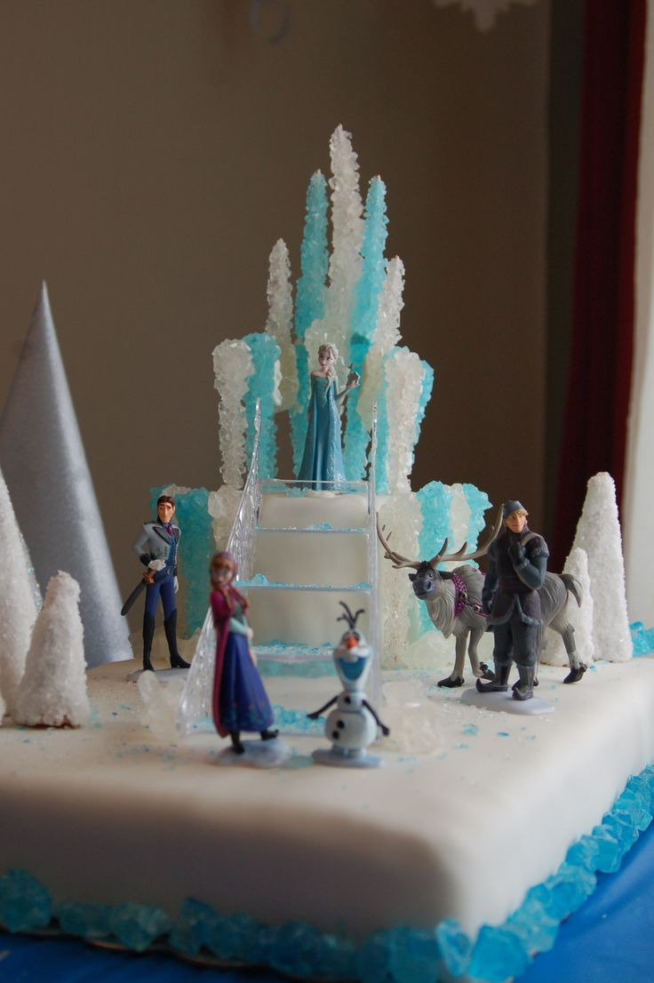 Here is the whole cake...maybe on a smaller scale??? Frozen Cake