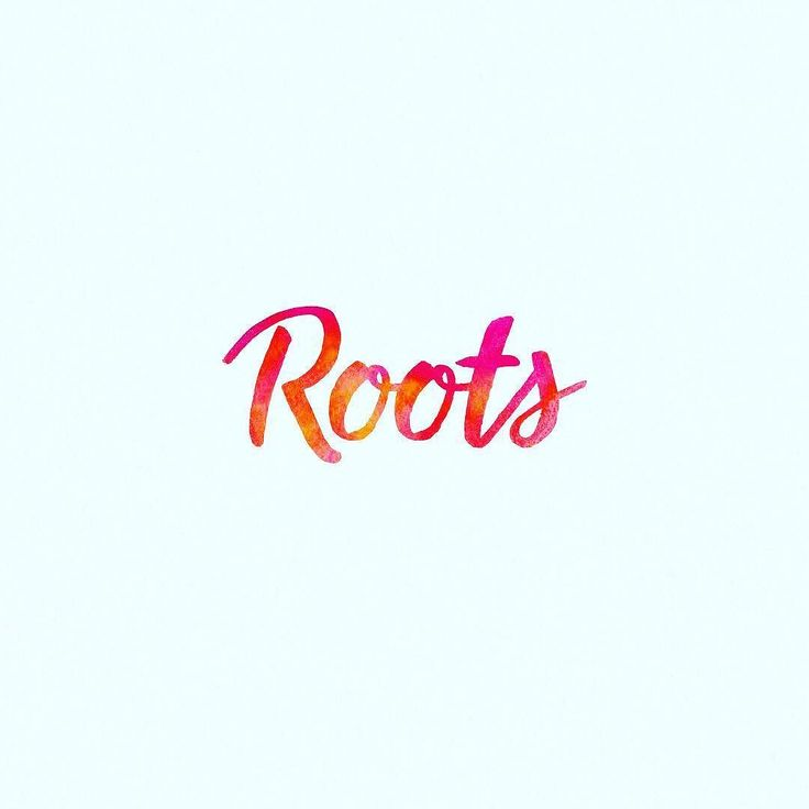 Roots logo design by @ash_flint #packaging #graphicdesign #inspiration #snack #brand #logo #crisps #parsnip #freelance #vegetable #handlettering #calligraphy #watercolour
