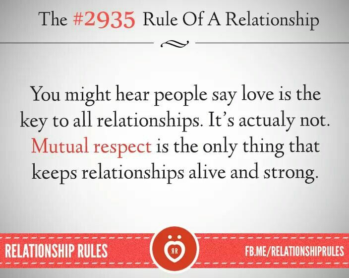 rules of respect in a relationship