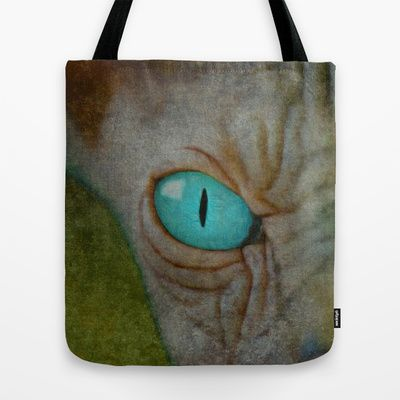 Sphynx Stare Tote Bag by Bruce Stanfield - $22.00 Cat Cats