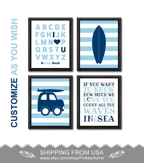 surf nursery surf baby decor beach nursery art beach baby room decor surf playroom art beach kids room decor if you want to know how nursery by PinkeeHome