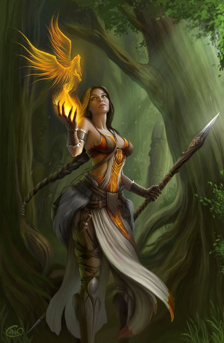 "Druids Trees:  ""Priestess,"" by Aneteya, at deviantART."
