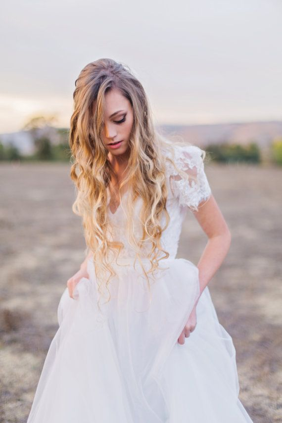 Rosé Gown / Bohemian Wedding Dress / Boho romantic stunning tulle gown/ boho gown #bride #bridal #femininity #fashion #women #dresses #gowns #skirts  #dressup #lingerie #couture #style #chic #elegant #readytowear #boots #high_heels #white #wedding #marriage