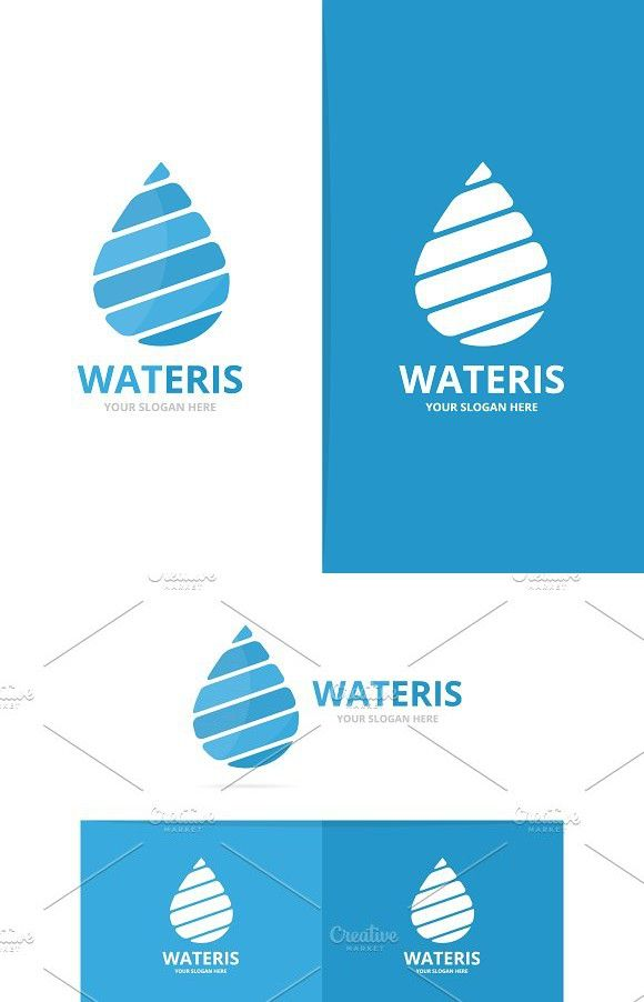 Vector Of Water Drop Logo Combination Oil And Droplet Symbol Or
