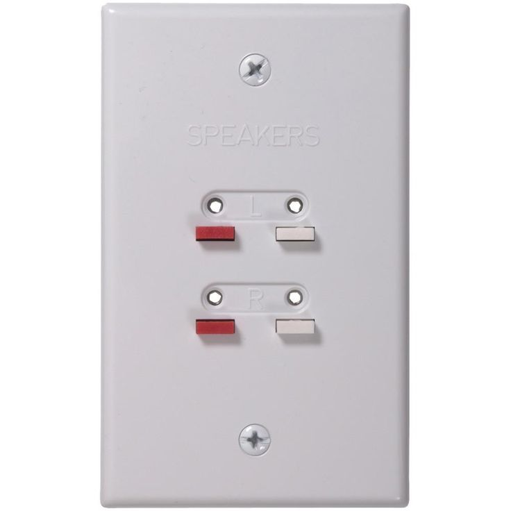 RCA AH300WHR Stereo Speaker Wire Wall Plate (White)