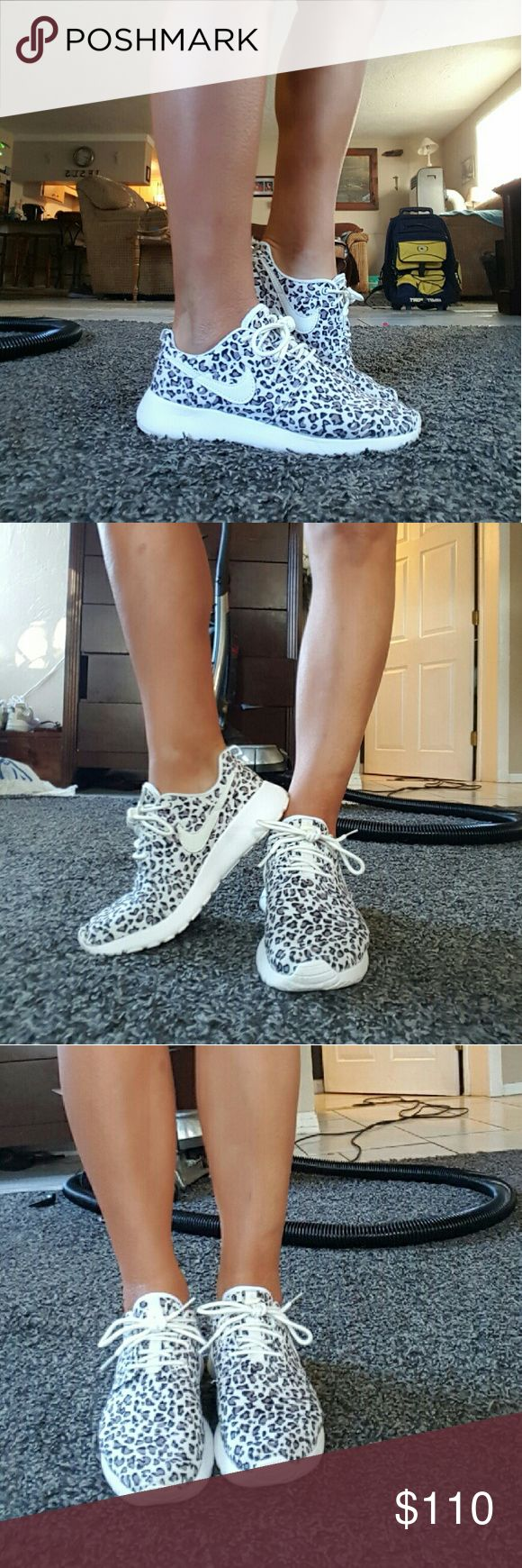 Rare leopard Nike Roshes Rare leopard Nike Roshe shoes size 8 worn only a couple of times absolutely no flaws 100% authentic Nike nike Shoes Athletic Shoes