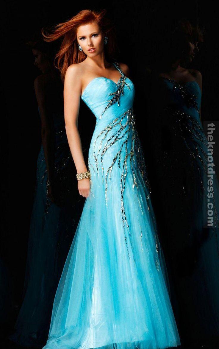 Blue Sheath Floor-length One Shoulder Dress, Cheap Prom Dresses Uk Dresses I loooove. | Big Fashion Show prom dress uk