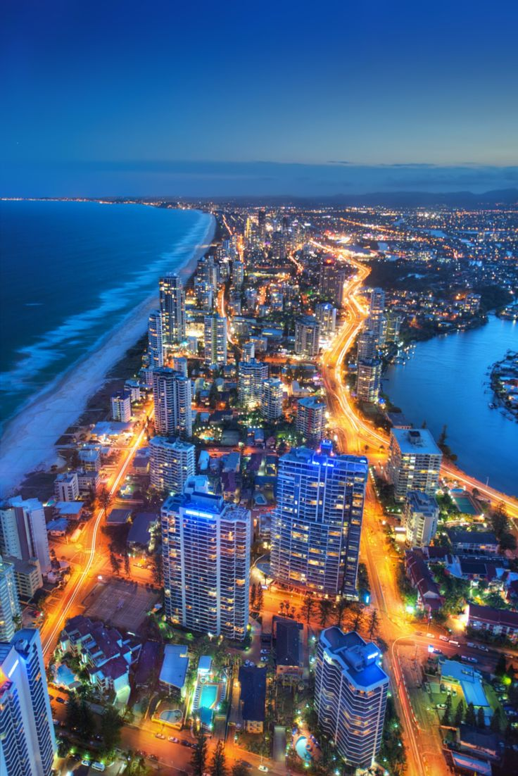 This is the Most famous Coast line in Australia known as Surfer's Paradise on the Gold Coast in South-East Queensland.