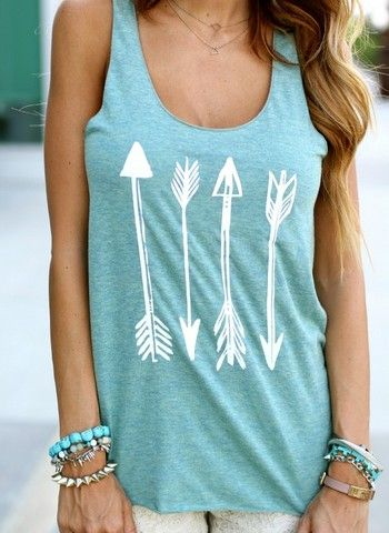 I am a fan of printed cotton tanks.
