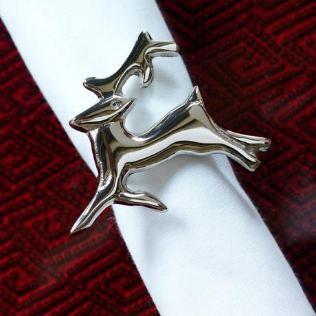 The Reindeer Napkin Ring from M&B. Bring a set to your hostess this Christmas season.