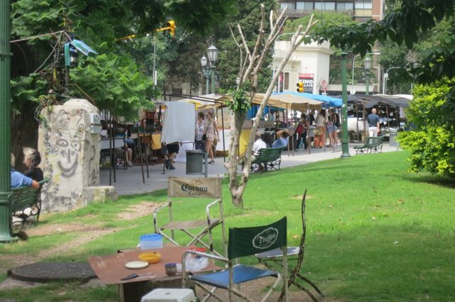 Artisan markets are everywhere in downtown Buenos Aires