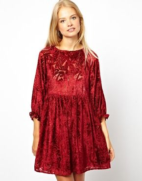 ASOS Smock Dress With Velvet Burnout, love it ! definitly a dress for Sprinter ( Spring n Winter )