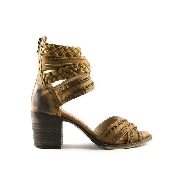 Freebird Leather Wrap Heeled Sandal