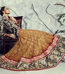 Buy Yellow Santoon Embroidered unstitched lehenga-choli lehenga-choli online