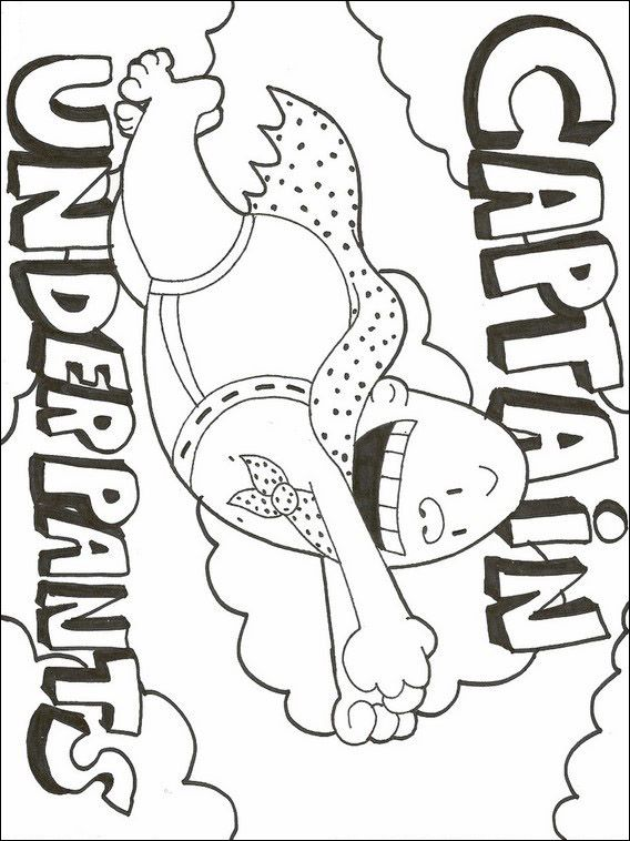Printable Coloring Pages For Kids Captain Underpants 2 Captain Underpants Coloring Pages Printable Coloring Pages