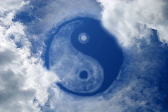 """yin yang symbol meaning/ """"Most of us straddle that line between being complete jerks to being cotton-candy-cupids."""""""