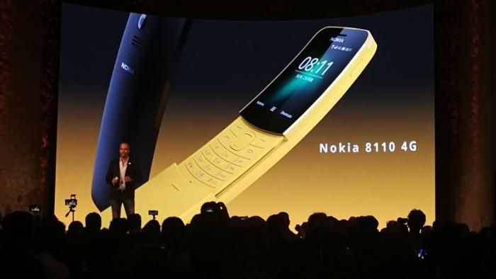 MWC: Still a classic: HMD the Nokia 8110 sets new   HMD Global in Barcelona is the Nokia 8110 4G.  (Image: heise online)   The iconic curved Slider is The Nokia 8110 to make a splash even though it is only a simple mobile phone without Smart features. In the past year manufacturers HMD Global the Nokia classic 3310.     The Original Nokia was thanks to The Matrix to the cult mobile phone.  (Image: Warner Bros.)    After the Coup with the Nokia 3310 in the past year the Finnish manufacturer…