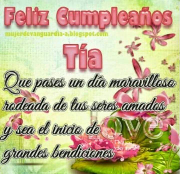 Lyric cumpleaños feliz lyrics : Best 25+ Happy birthday tia ideas on Pinterest | Birthday wishes ...