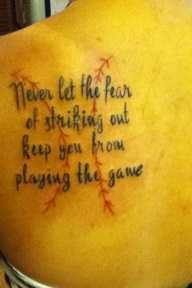 SOFTBALL TATTOO