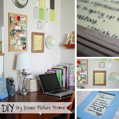 DIY :: Dry Erase Picture Frame....so easy!!! #DIY #crafts