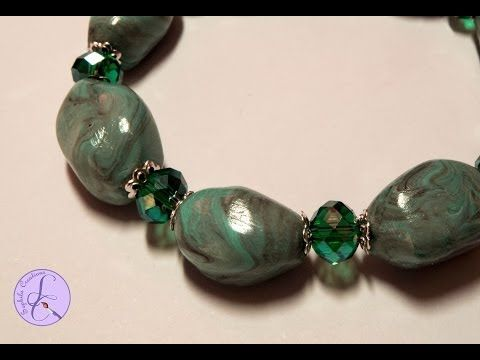 Tutorial: Perle in pasta di turchese in fimo (turquoise beads in polymer clay) [eng-sub] - YouTube