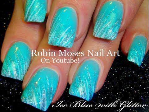 EASY Glitter Striped Nails | DIY Nail Art for Beginners! - YouTube