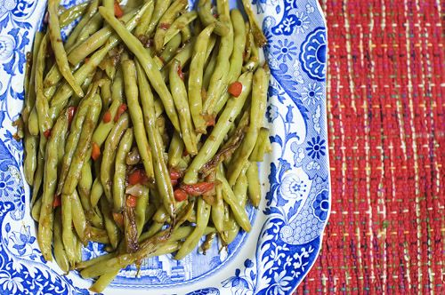 ... Woman, Bell Peppers, Green Beans, Fresh Green, Green Bean Recipes