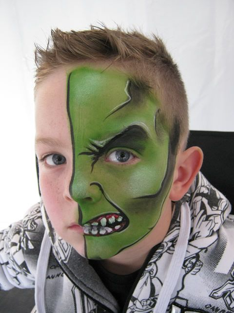 half face face painting pinterest face face. Black Bedroom Furniture Sets. Home Design Ideas
