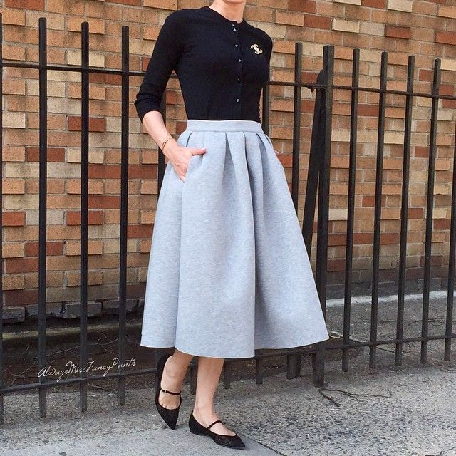 Rather conservative today  #JCrew cardigan #TopShop skirt #JimmyChoo shoes #Chanel brooch #ootd
