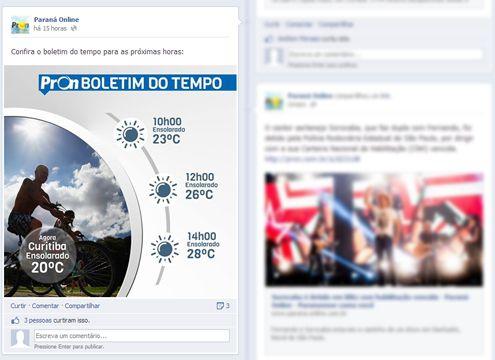 Paraná Online lança previsão do tempo no Facebook - http://vcnotopo.com.br/classificados_curitiba/vendo/blog-vc-no-topo/29-01-2014/parana-online-lanca-previsao-do-tempo-no-facebook.html