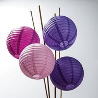 Cheap Paper Lanterns for Bulk Purchases, some large white, some small white, and a handful of colored lanterns