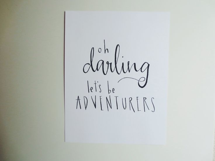 Image of oh darling, let's be adventurers