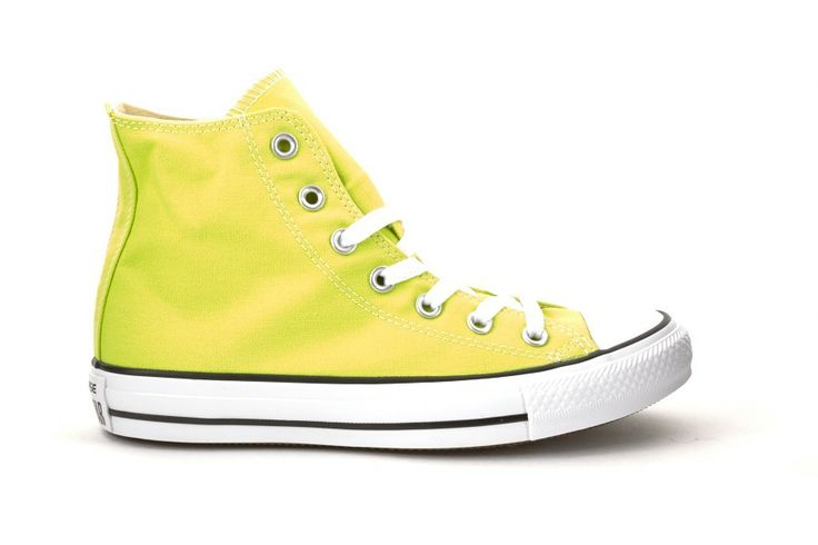 Scarpe Donna converse all star alte chuck taylor gialle citronelle