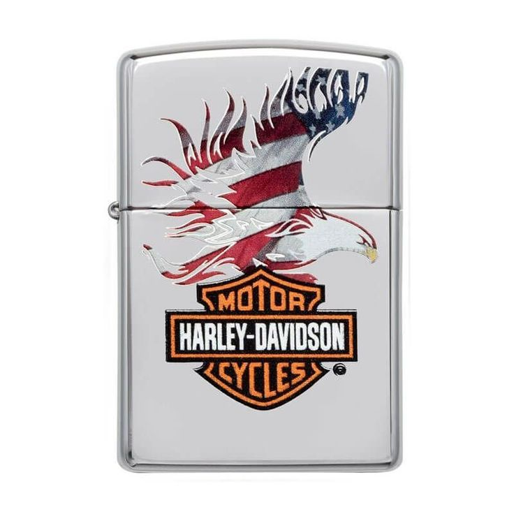 Isqueiro Zippo 28082 Harley-Davidson® Eagle Flag Polido - Gerilu.com.br