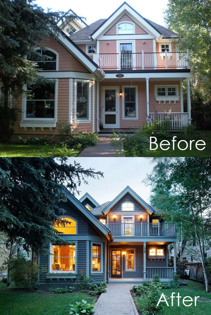 17 best images about before after on pinterest front doors the white buffalo and porticos for Before and after home exteriors remodels
