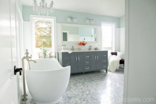 203 best images about decorate bathroom on pinterest soaking tubs bathrooms decor and for Anna s linens bathroom accessories