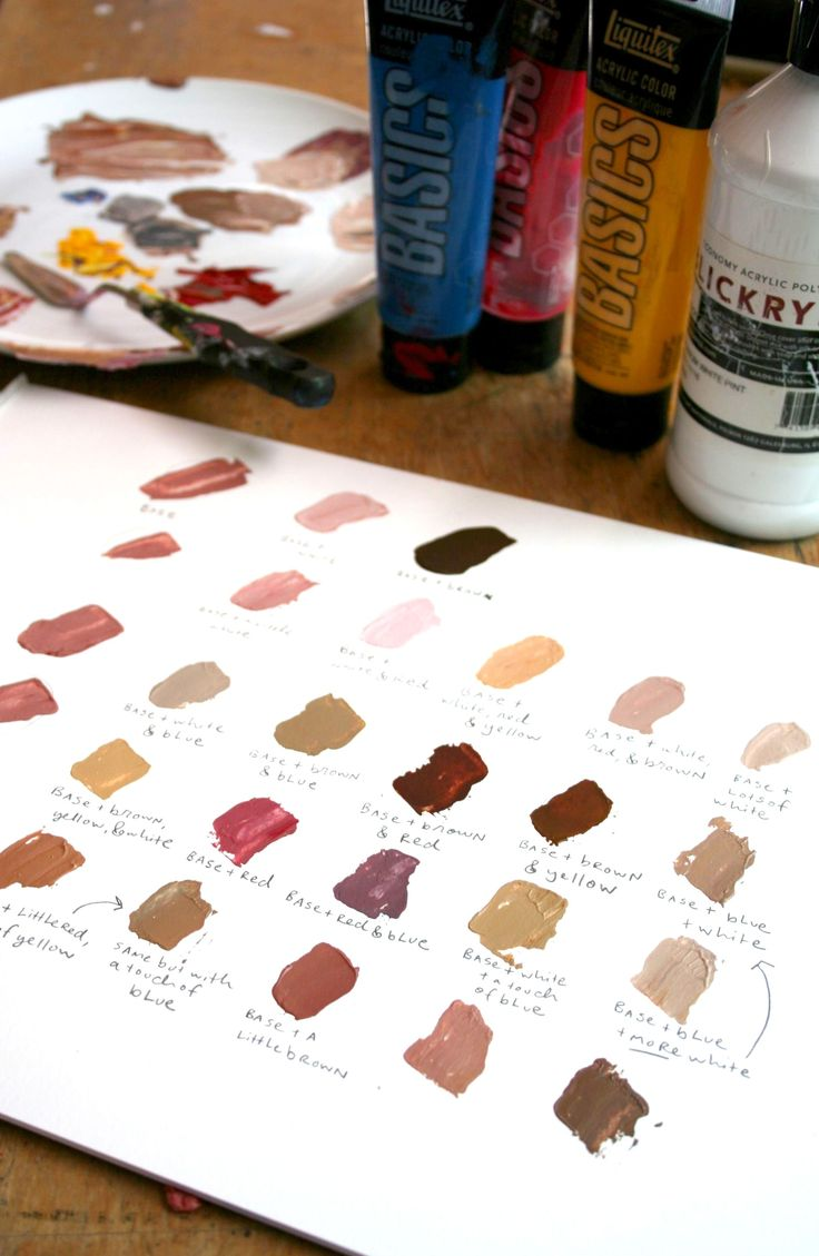 Don't be scared of painting skin tones. Learn how to attain realistic, dimensional skin tones in your art with this step-by-step tutorial. On Craftsy!