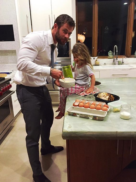 The Cutest Celebrity Kids on Instagram - Chris Hemsworth and his daughter, India Rose from InStyle.com