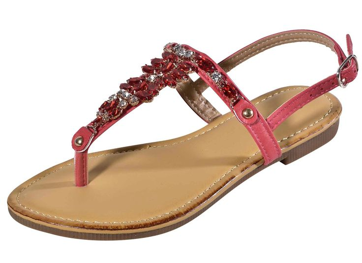 Best Red Flat Buckle Strap Sandals for Women Ankle Tstrap