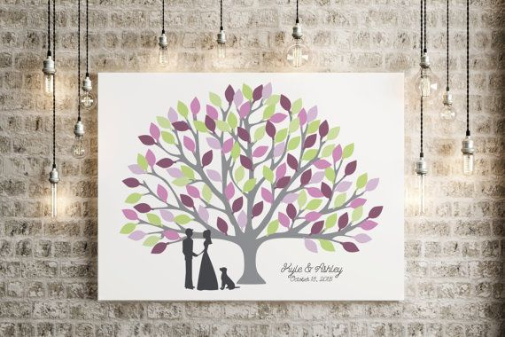 Wedding Tree Guest Book Alternative Tree Guestbook by MDBWeddings