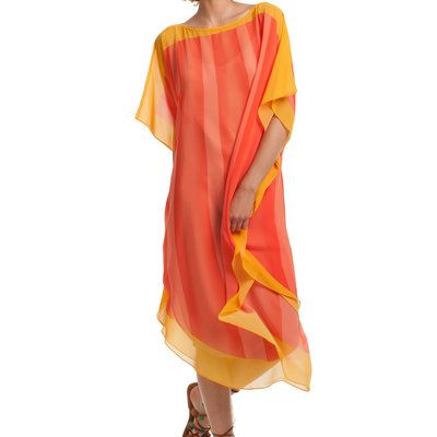 We love the 1970's vibe of this colorful caftan cover-up from Trina Turk.